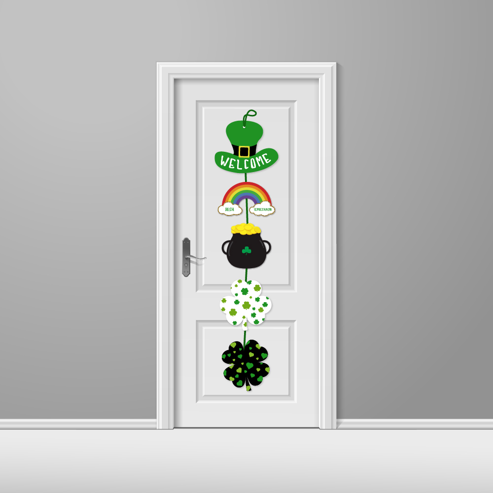 TT002 Happy St Patricks Day Party decoration Hanging Welcome Sign