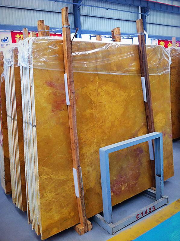 Yellow Color Marble Slab - Golden Marble