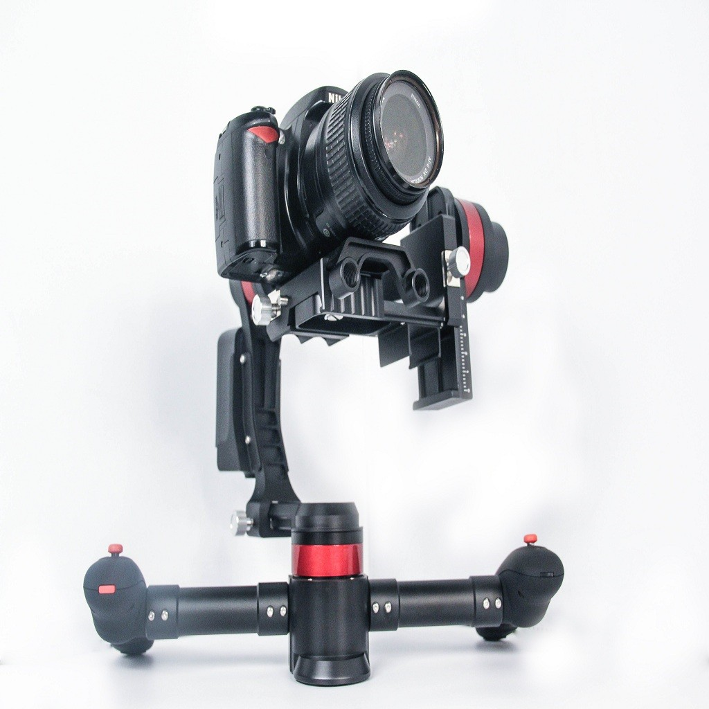 3 axis DSLR Brushless Gimbal Carbon Fiber Handheld Gimbal w/3pcs motor for GH4 5D2 5D3 6D