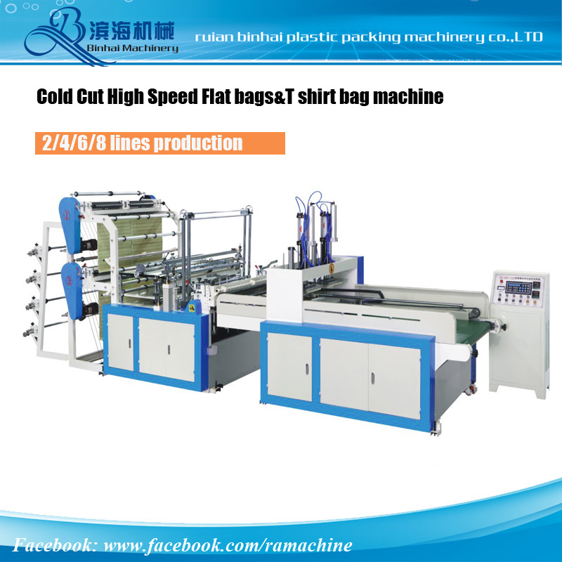 6 Lines Cold Cut T shirt & Flat Bag Machine