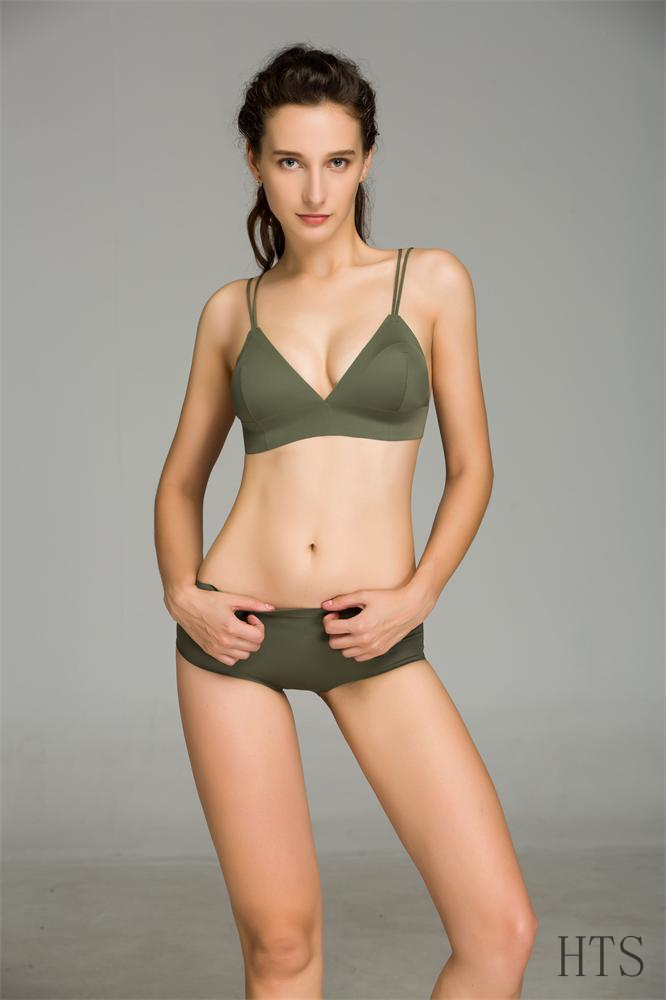 European Style Women Underwear Sexy Green Bralette Bra