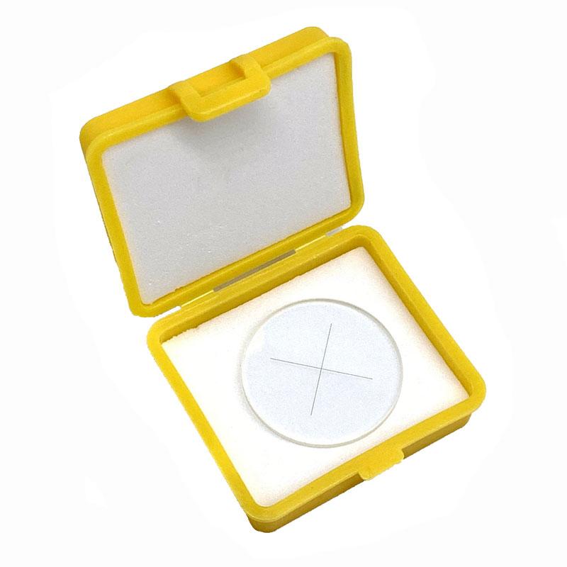 Crosshair Graticle Value Cruciform Plate External Internal Micrometer Graticule Microscope Reticle