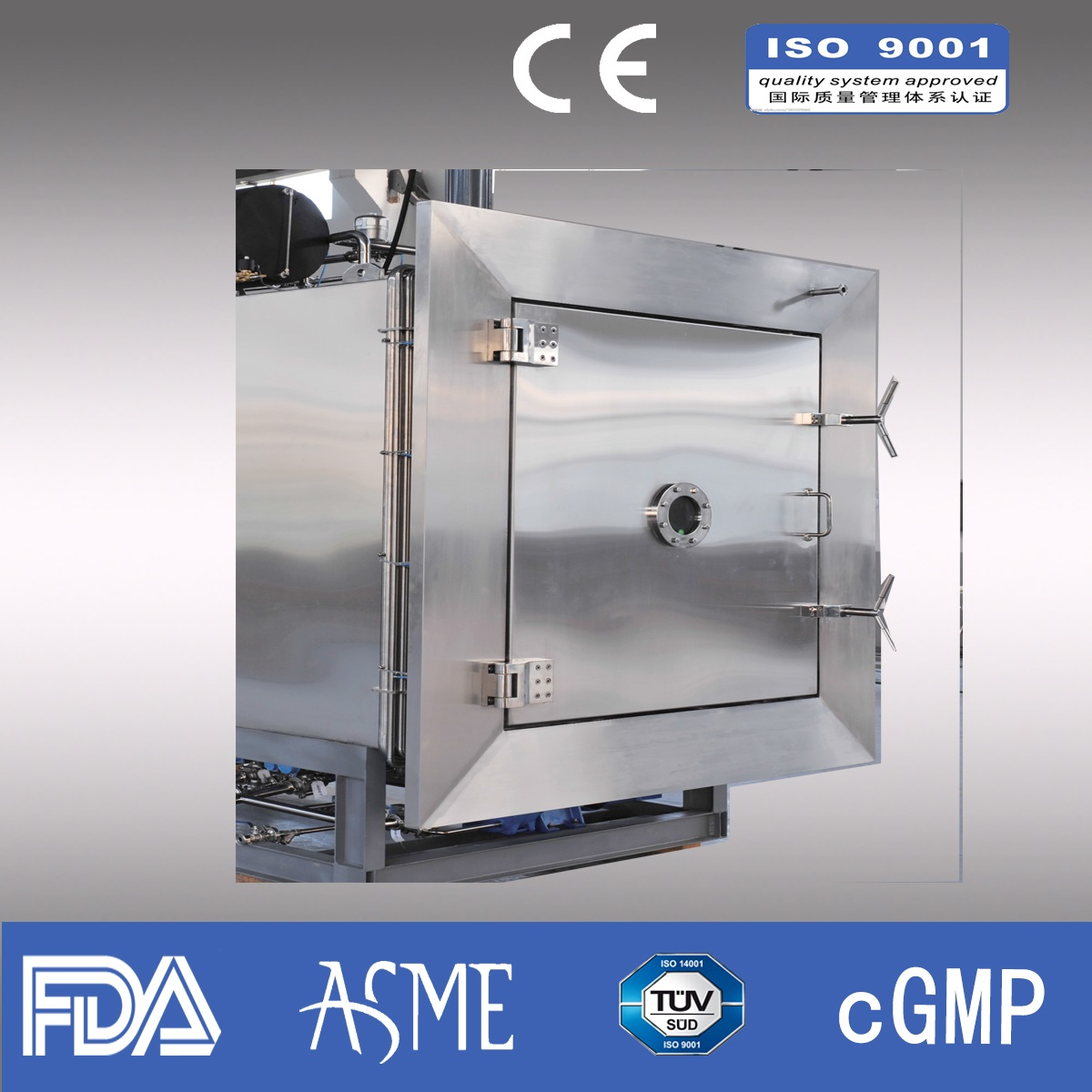 500kg/liter Industrial Freeze Dryer/Lyophilizer/ Pharmaceutical lyophilizer