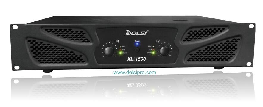Double Channel 2U Professional Power Amplifier XLi series 250W to 1200W
