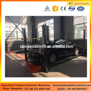 hydrauic two post car lift/parking lift system with Factory price