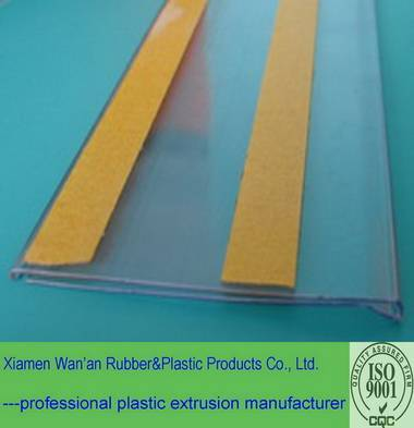 clear pvc price tag