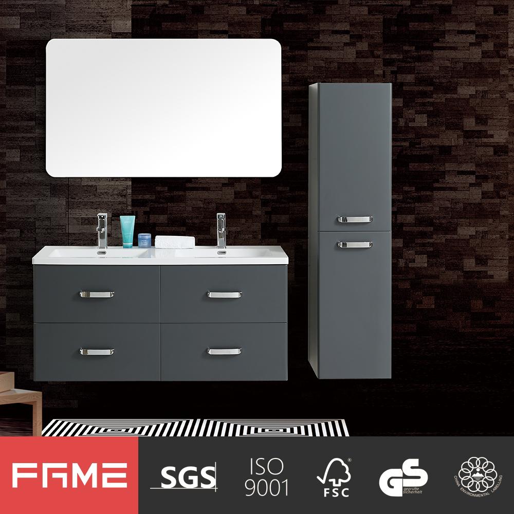 fame modern wholesale high gloss painting grey bathroom