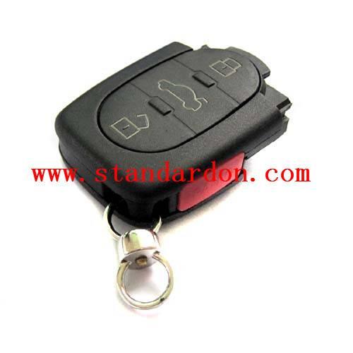 4D0 837 231 N Flip REMOTE KEY Full Car Key 433MHz with ID48 Transponder Chip For A3, A4, A6, TT