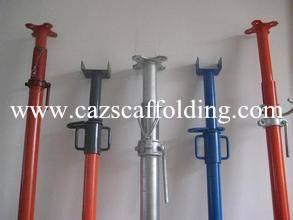 Adjustable scaffolding steel prop