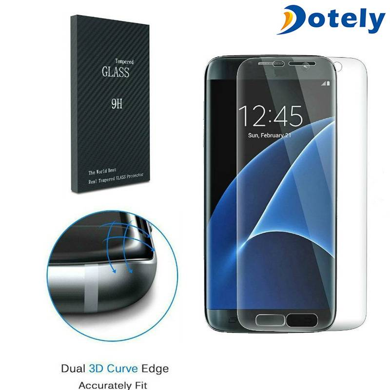 Full Transparency Curved Mobile Screen Protector for Samsung Galaxy S7 Edge