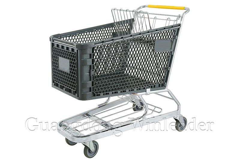 YLD-PT180-1FB Plastic Shopping Cart,Shopping Cart,Shopping Trolley Manufacturer