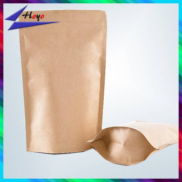 customized kraft paper bag with zip lock