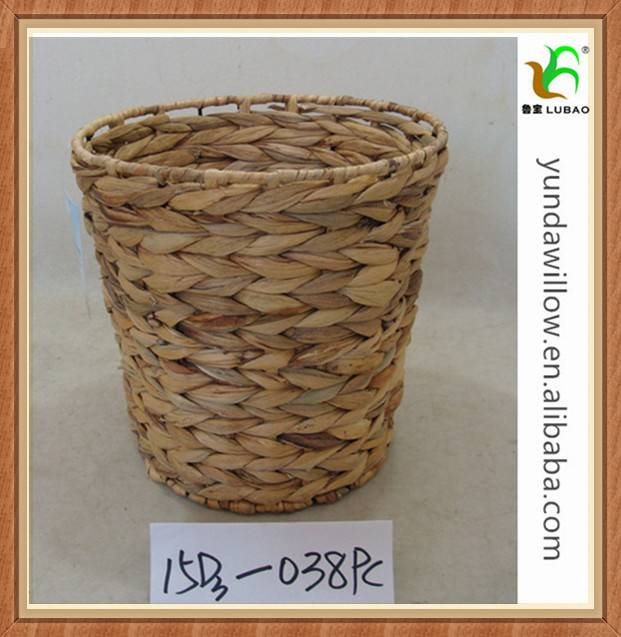 Collapsible Water Hyacinth Grass Products Hamper For Basket Crafts