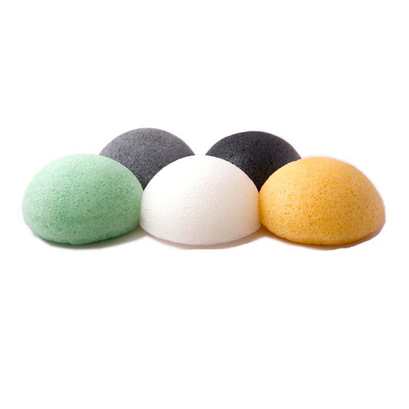 Deep cleaning japan 100% Pure natural konjac facial sponge half ball