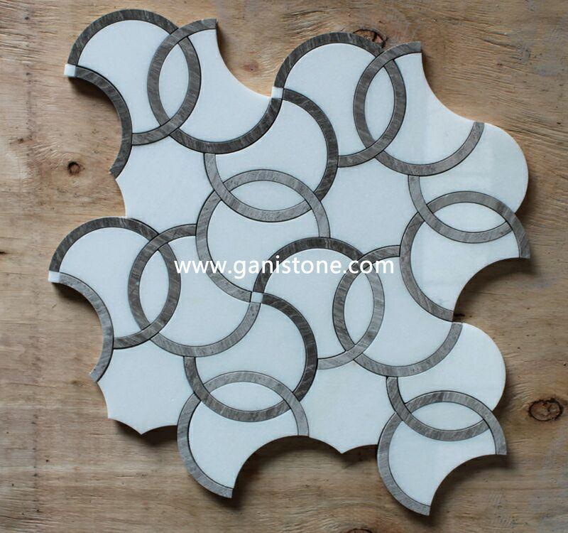 Marble Waterjet Cut Mosaic
