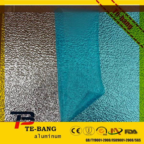 Orange peel pattern embossed aluminum sheet with high quality sale