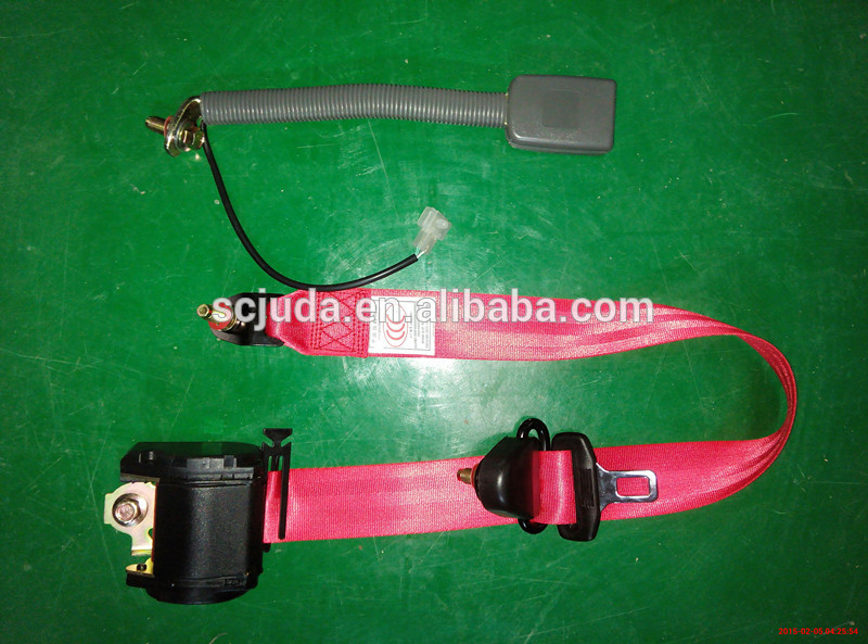 manufacture sales Emergency 3-point red seat belt for Classic cars