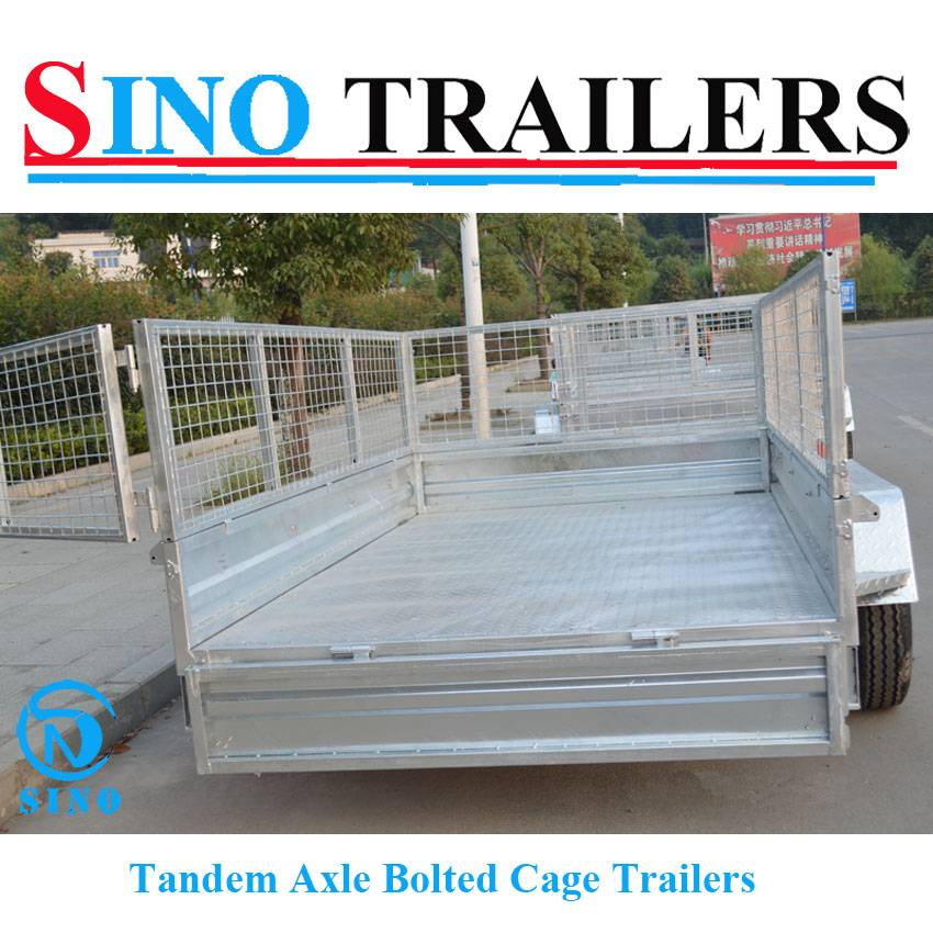 2016 New Design Heavy Duty Tandem Axle Bolted Cage Trailers