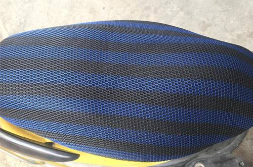 Motorcycle Seat Cover 3D Mesh Polyester Fabric