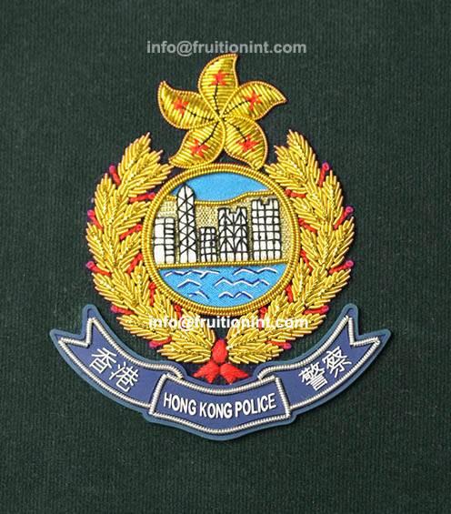 Bullion Embroidered Blazer Badge