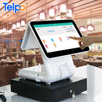 Telpo TPS650 Retail touch screen smart till cash register equipment with 80mm Thermal Printer