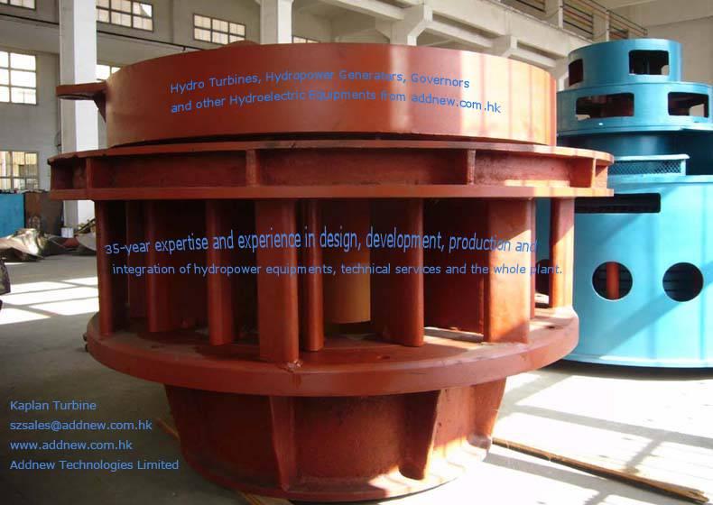 Kaplan type turbine for hydro power generator