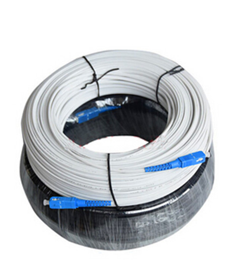 FTTH 2 Core Optical Fiber Cable Preterminated with Sc LC FC St Connectors