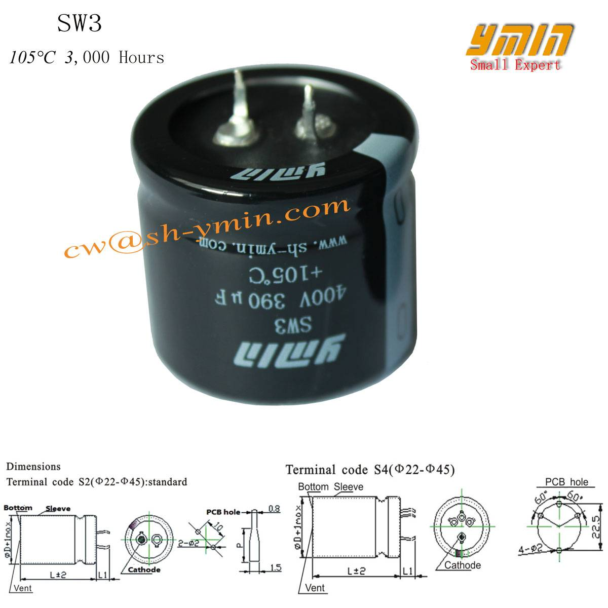 Charger Pole Capacitor Snap in Electrolytic Capacitor for EV Charging Station EV Charging Spot