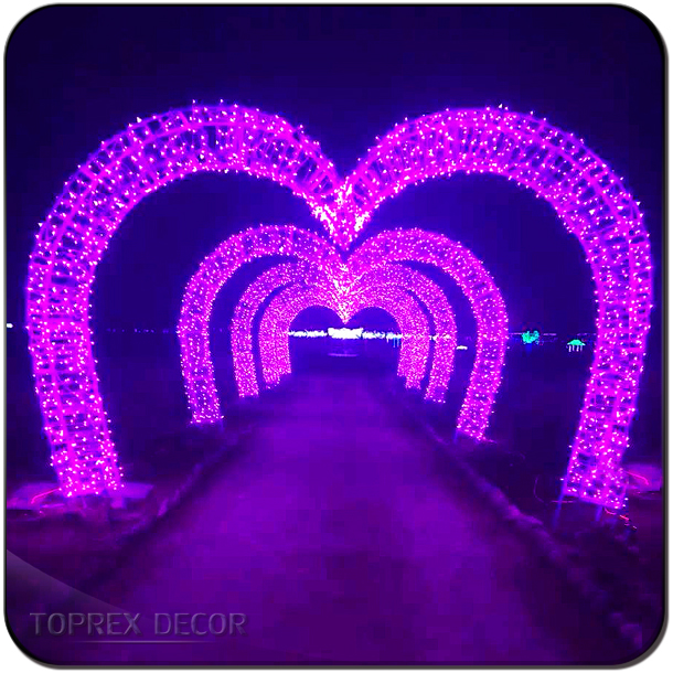 Outdoor christmas decoration light led lights arch lights valentines day heart shaped wedding arch