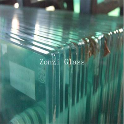 Clear Laminated Glass with Polised Edge
