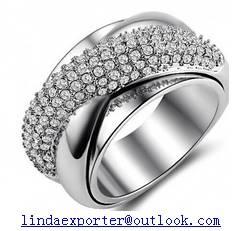 fashion 925 sterling silver CZ stone ring