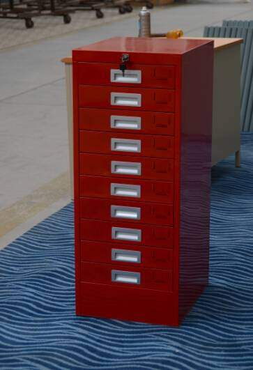 Ten drawers office furniture