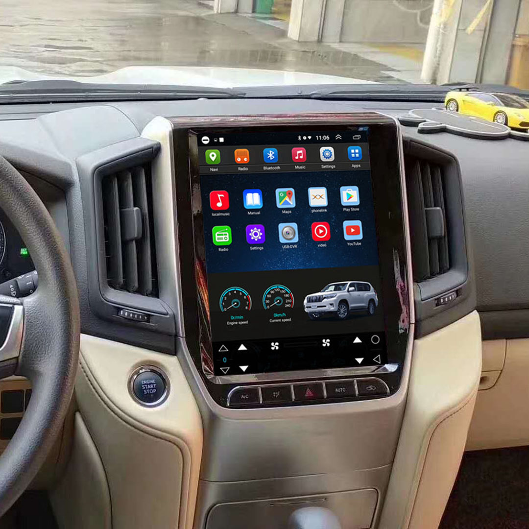 Vertical Screen 12.1 Inch Android Car Multimedia Navigation For Toyota Land Cruiser 2016-2019