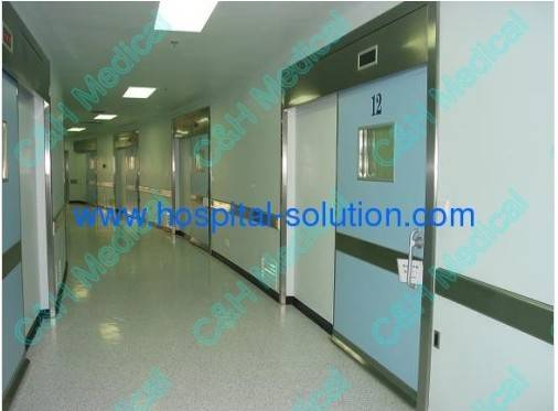 single leaf automatic sliding hermetic doors for hospital  medical clean room