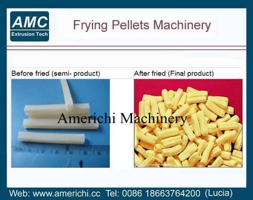 Frying pellet machines
