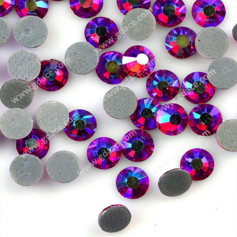 Siam AB hot fix rhinestone,flatback iron on DMC stones bulk packing,hotfix motif rhinestone