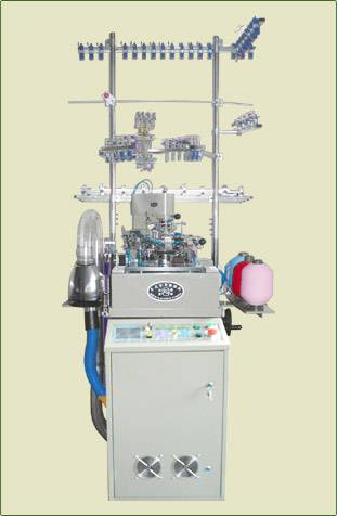 Plain and Terry computerized sock knitting machine