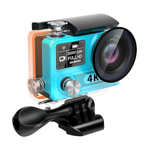"sport camera T8S 4K30/2.7K30/1080p60(EIS) 2"" Screen + Status Screen + Wifi + 170-degree Lens + Remot"