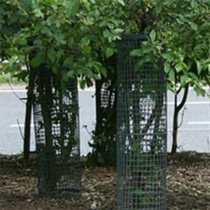plastic HDPE material tree guards /garden fence border