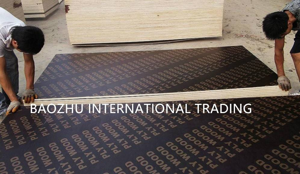 Black/Brown/Red film faced plywood from China