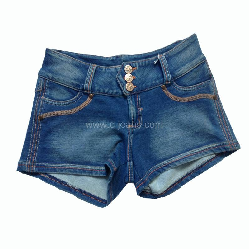 Fashion New Short Stone Wash Jeans. Fashional and Sexy Lady