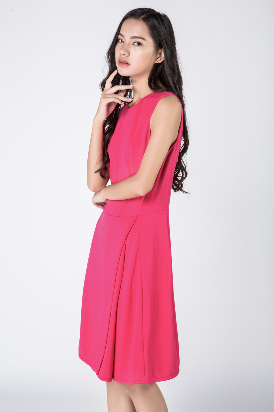 Gaoping  Wenqiong G1603/04 women cotton round neck sleeveless dress