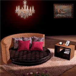 New modern design rattan folding sofa cum bed