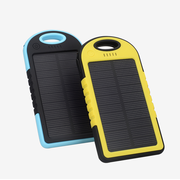 Fashion solar power bank 5000mah solar battery charger