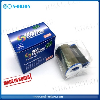 Real-colors zebra 800015-440in YMCKO_200 images printer ribbon for zebra i series card printer