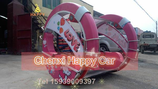 New amazing LED amusement swing rides happy 360degree rotating car for theme park for sale