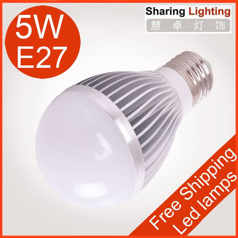5W E27 LED bulb lamp ,warm white / pure white led light bulb 450lm guaranteed 2 years