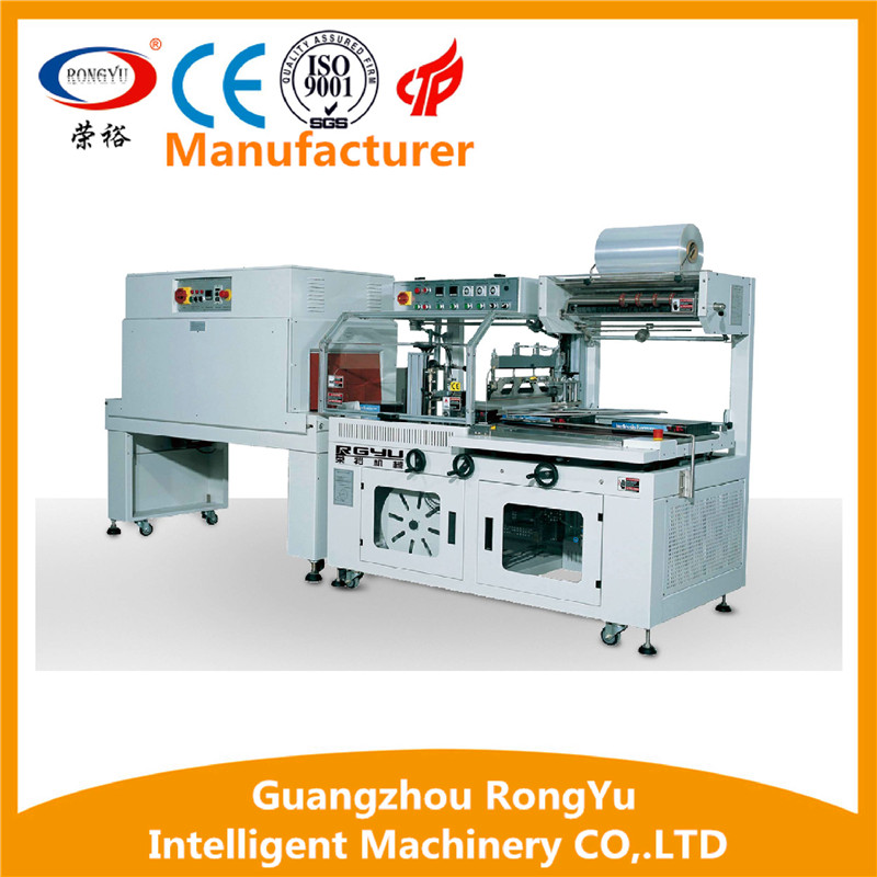High quality L type sealer shrink tunnel heat shrink wrapping machine for sale