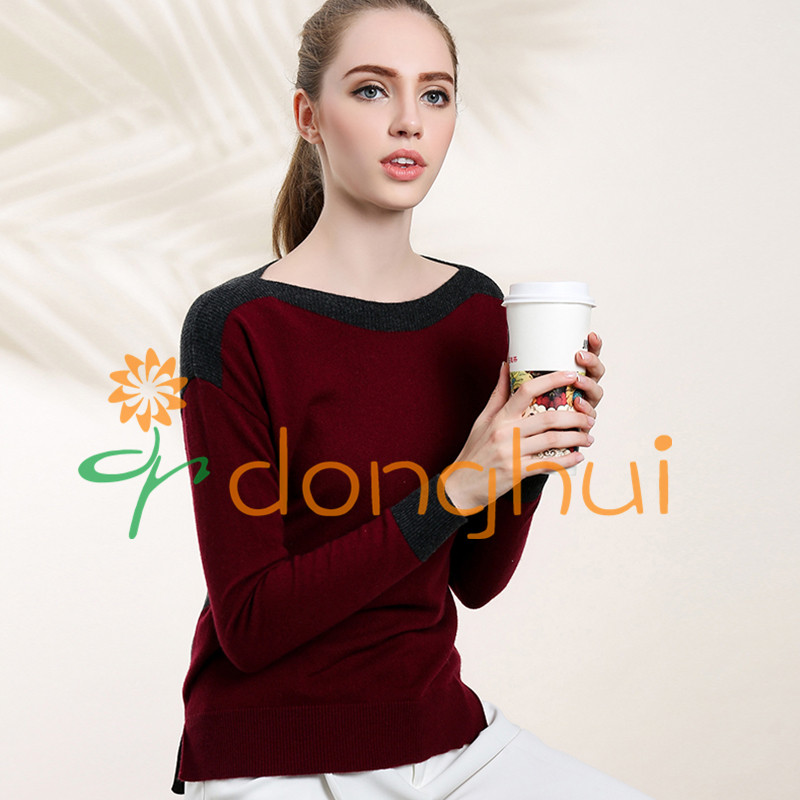 Anti-pilling 100% cashmere knitting sweaters for women