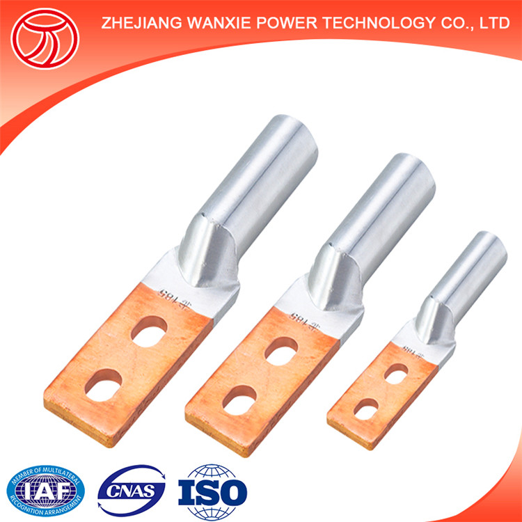 Double hole type square Copper-Aluminium bimetal connector